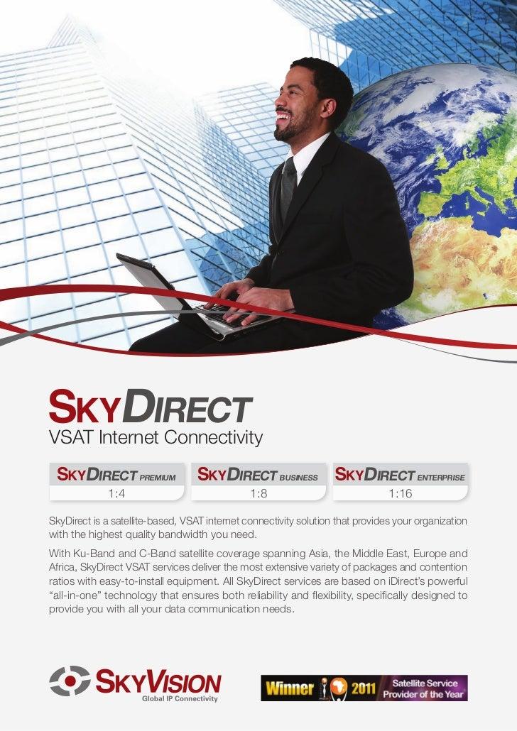 SkyDirect Series VSAT Internet Connectivity