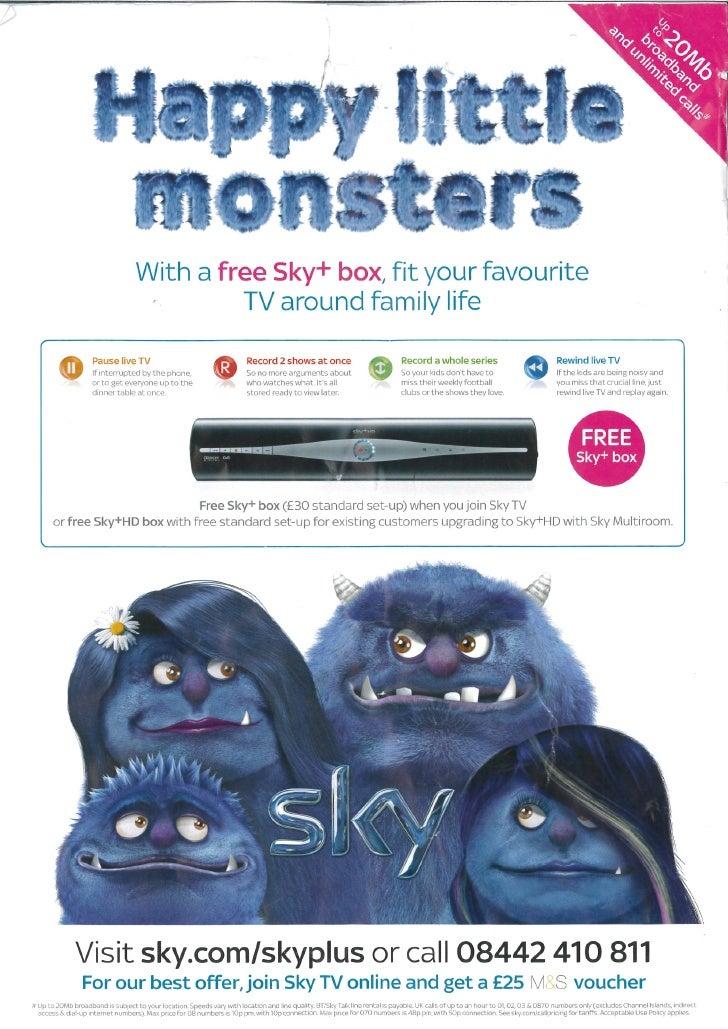 Sky + family monsters