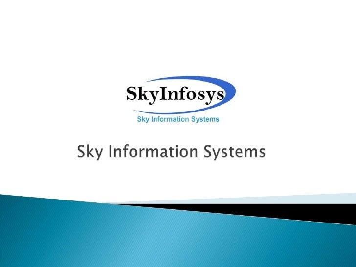 Sky information systems company profile (2011) - linkedin