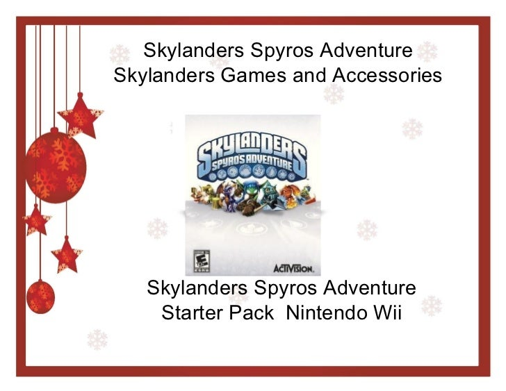 Skylanders Spyros Adventure Skylanders Games and Accessories Skylanders Spyros Adventure Starter Pack  Nintendo Wii