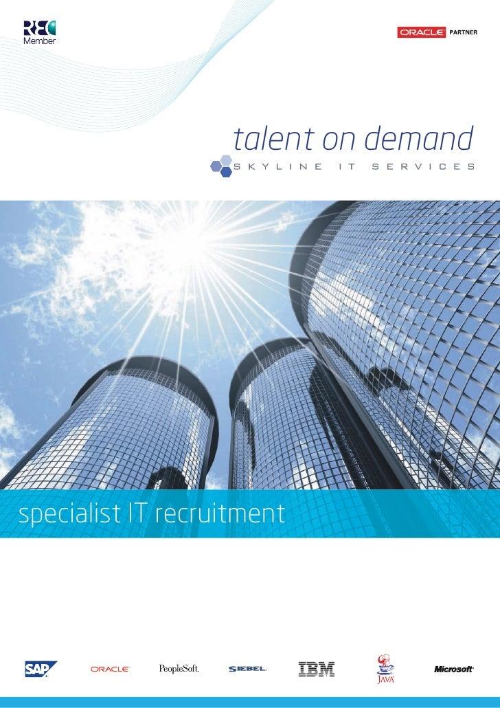 talent on demand     specialist IT recruitment
