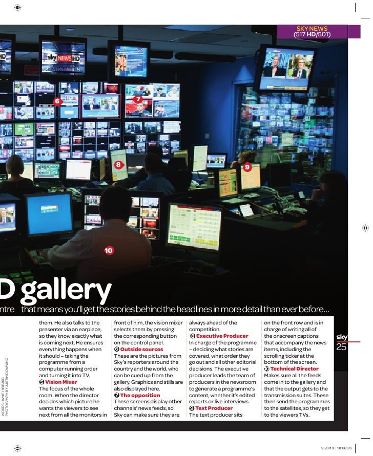 Sky News HD Production Gallery