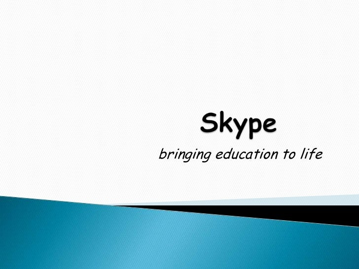 Skype and education