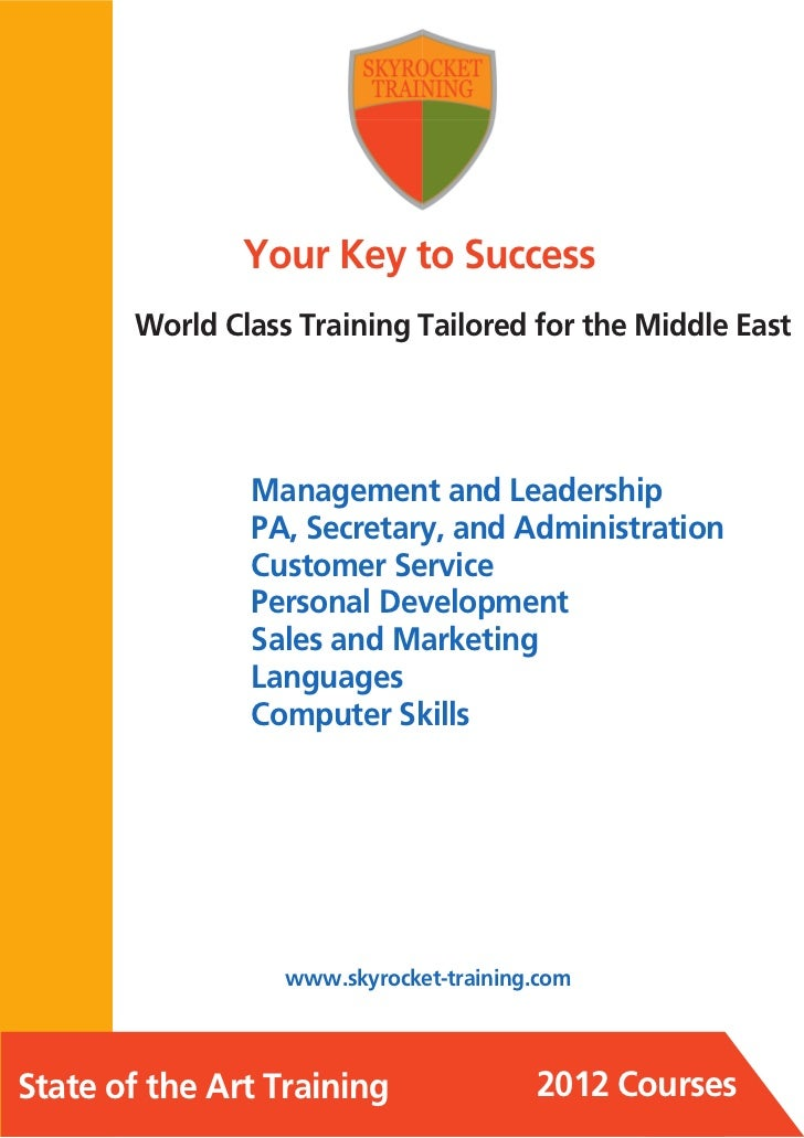 Your Key to Success       World Class Training Tailored for the Middle East               Management and Leadership       ...