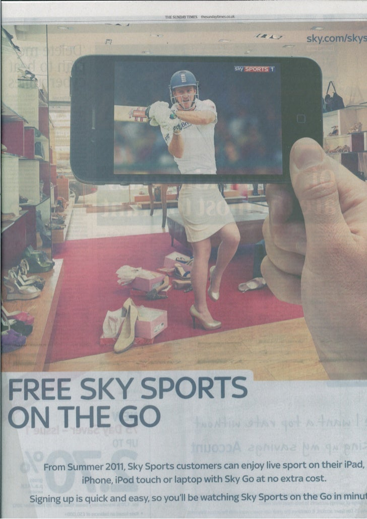 Sky sports On the go - shoe shopping