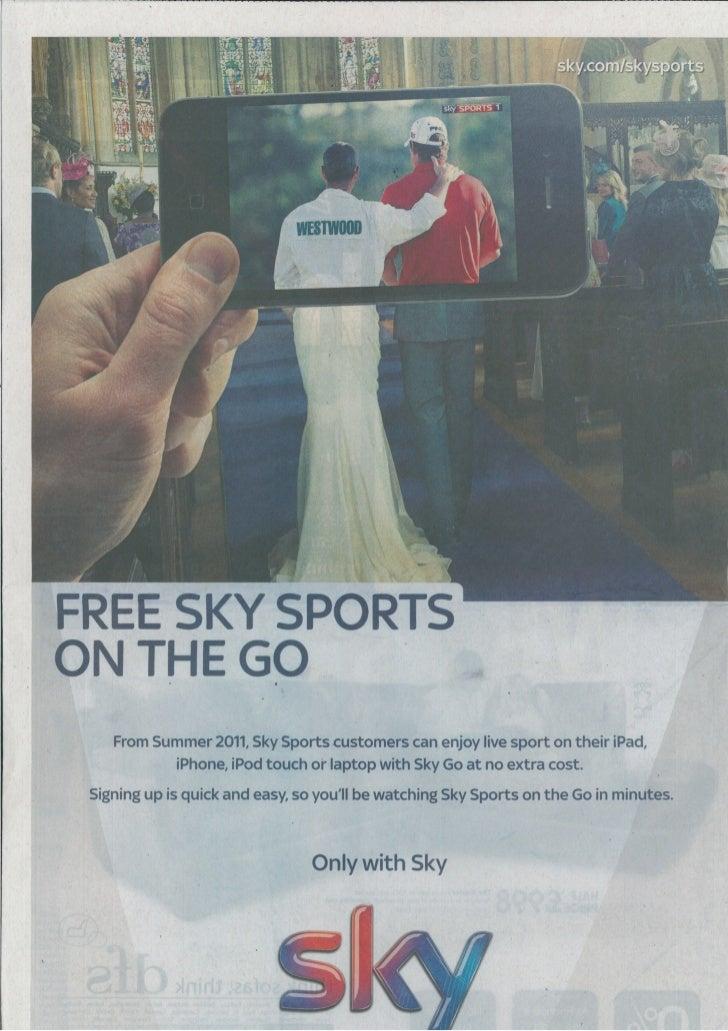 Sky sports   on the go - wedding