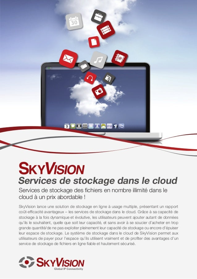 SkyVision Services de stockage dans le cloud Brochure French