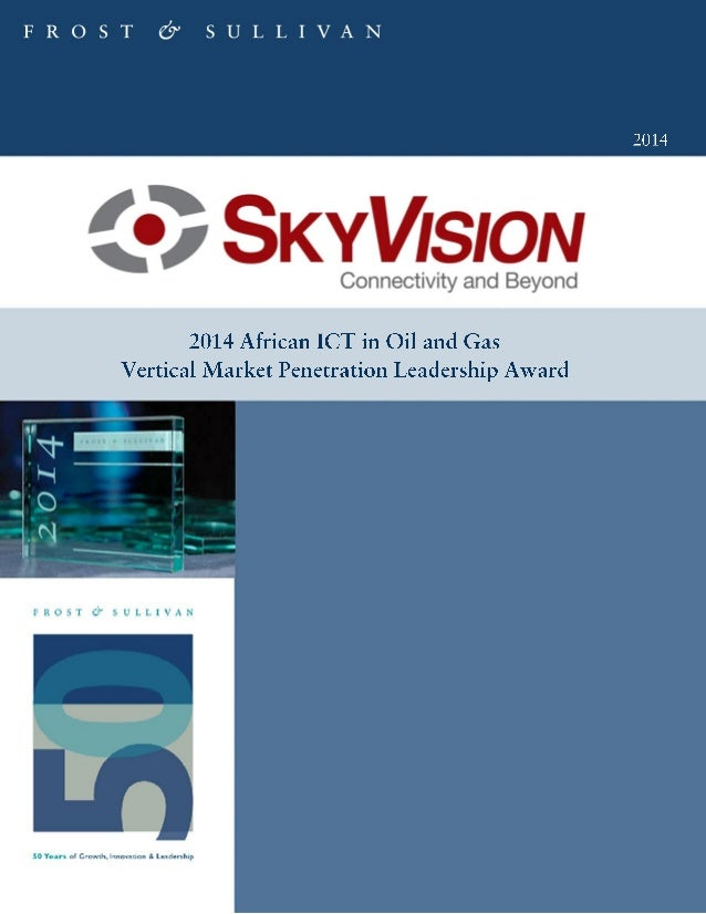 SkyVision – Frost & Sullivan Award Official Document