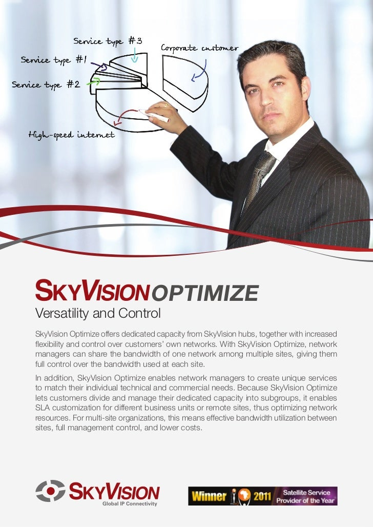 OPTIMIZEVersatility and ControlSkyVision Optimize offers dedicated capacity from SkyVision hubs, together with increasedfl...