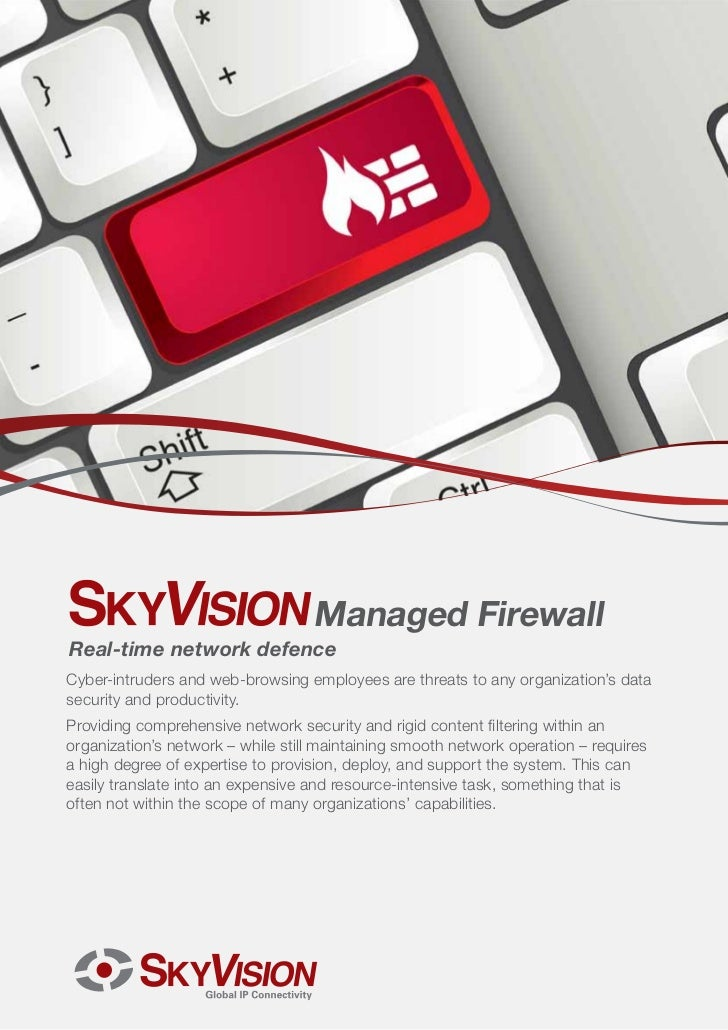 Managed FirewallReal-time network defenceCyber-intruders and web-browsing employees are threats to any organization's data...