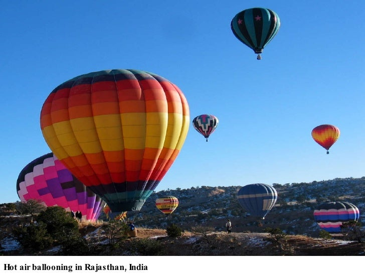 Hot air ballooning in Rajasthan, India