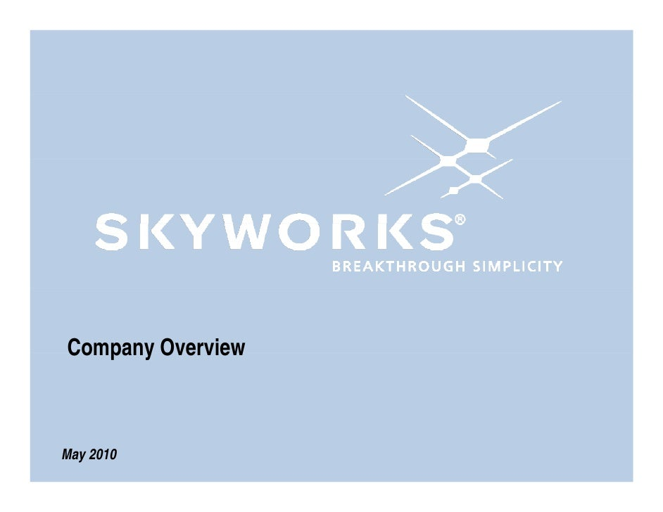 Skyworks Overview