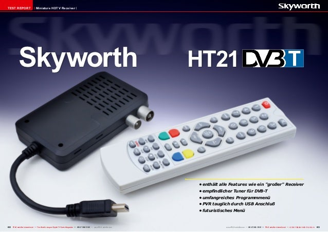 TEST REPORT                     Miniature HDTV Receiver            Skyworth 					HT21                                     ...