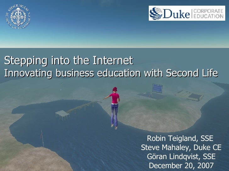 Second Life and Business Education