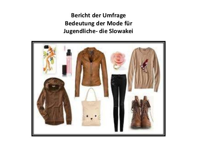 Bericht der Umfrage Bedeutung der Mode für Jugendliche- die Slowakei