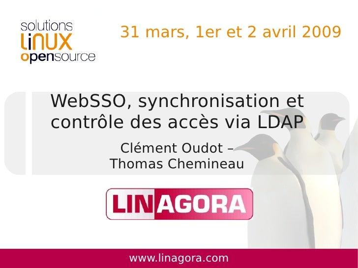 WebSSO, synchronisation et contrôle des accès via LDAP