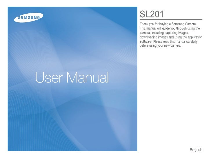 Samsung Camera SL201 User Manual