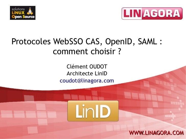 Protocoles WebSSO CAS, OpenID, SAML : comment choisir ?