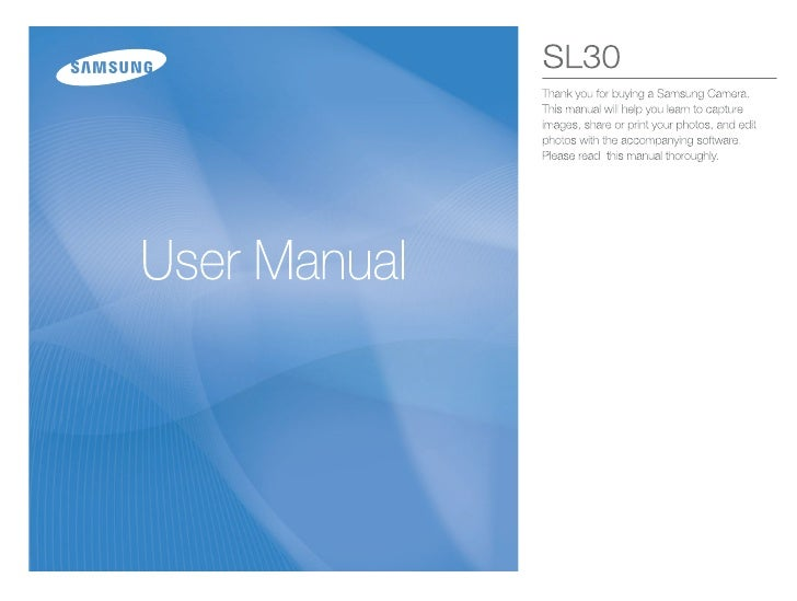 Samsung Camera SL30 User Manual