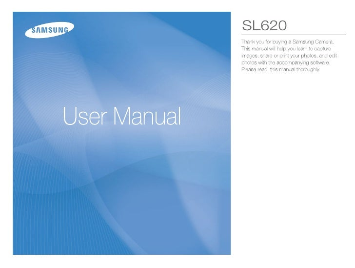 Samsung Camera SL620 User Manual