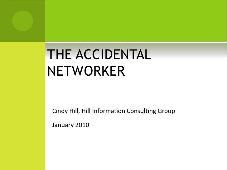 SLA Networking Presentation Cindy Hill Jan2010