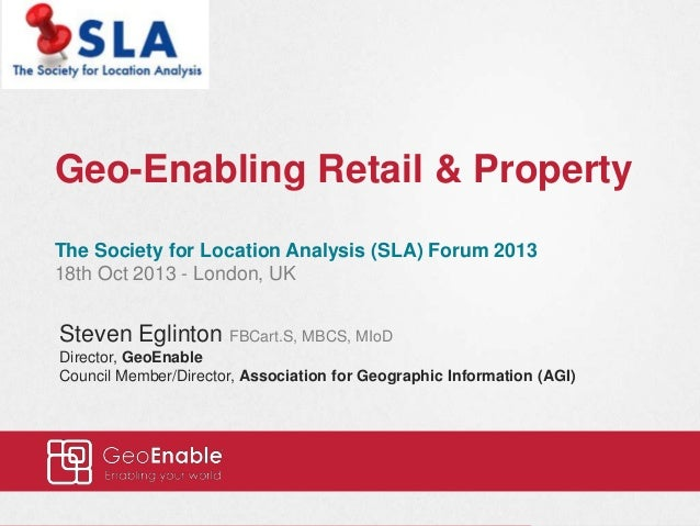 Geo-Enabling Retail and Property