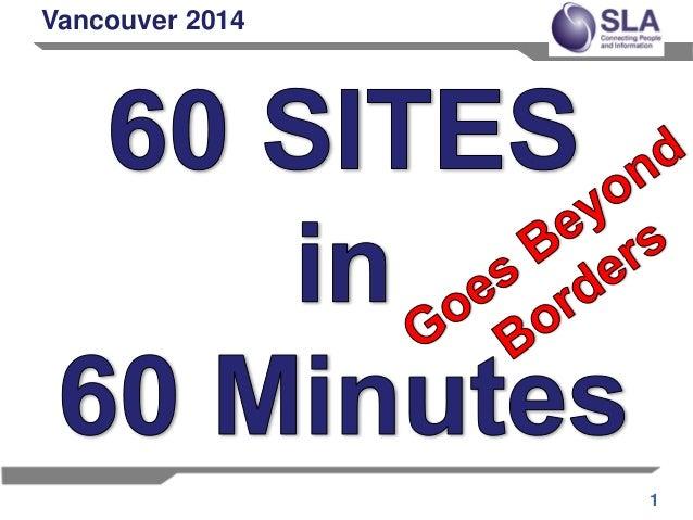 2014 SLA 60 Sites in 60 Minutes slides