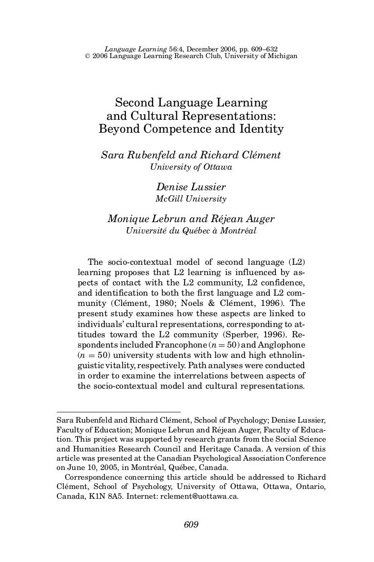Language Learning 56:4, December 2006, pp. 609–632        C   2006 Language Learning Research Club, University of Michigan...