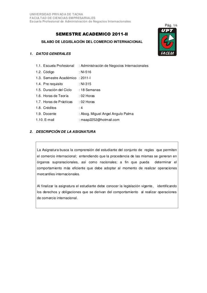 UNIVERSIDAD PRIVADA DE TACNAFACULTAD DE CIENCIAS EMPRESARIALESEscuela Profesional de Administración de Negocios Internacio...