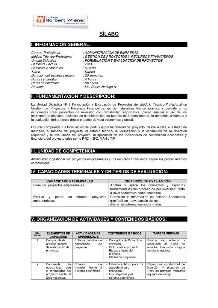 Sílabo formulacion evaluacion_proyectos