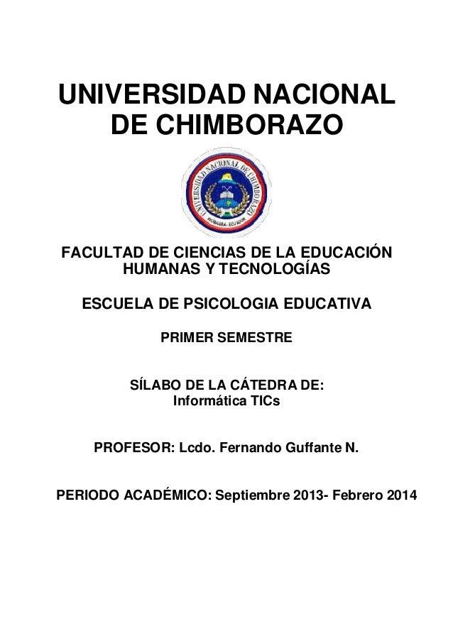 UNIVERSIDAD NACIONAL DE CHIMBORAZO  FACULTAD DE CIENCIAS DE LA EDUCACIÓN HUMANAS Y TECNOLOGÍAS ESCUELA DE PSICOLOGIA EDUCA...
