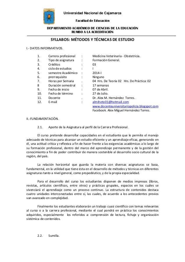 Universidad Nacional de Cajamarca Facultad de Educación DEPARTAMENTO ACADÉMICO DE CIENCIAS DE LA EDUCACIÓN RUMBO A LA ACRE...