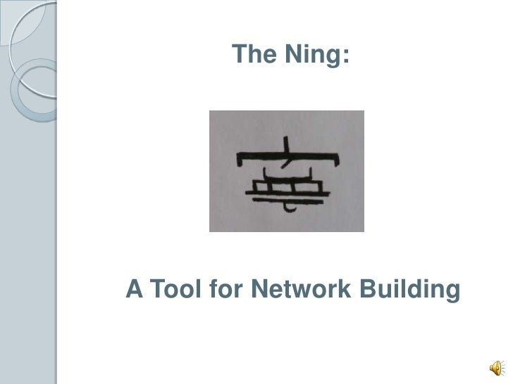 The Ning: <br />A Tool for Network Building<br />