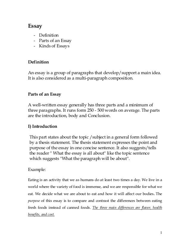 Introduction Of Compare And Contrast Essay