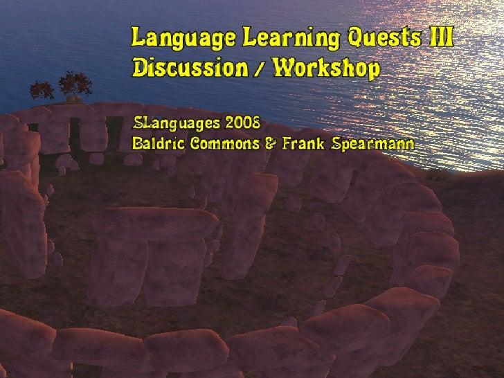 SLanguages2008   Language Quests Iii