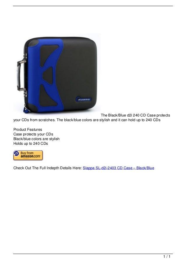 Slappa SL-d2i-2403 CD Case – Black/Blue