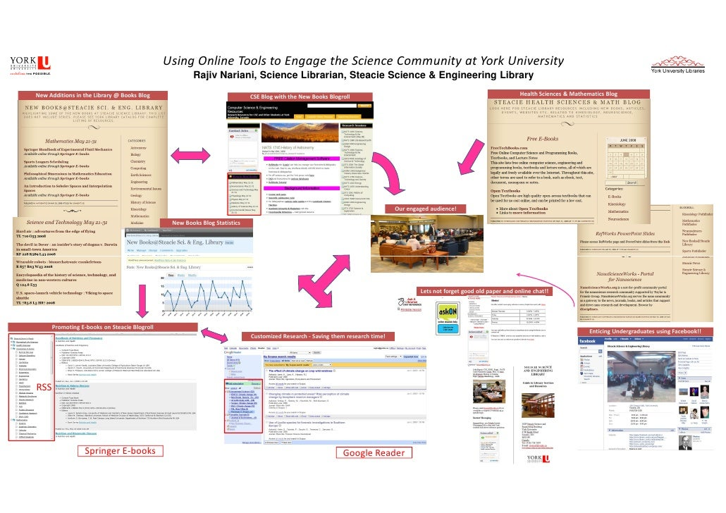 Using Online Tools to Engage the Science Community at York University                                                     ...