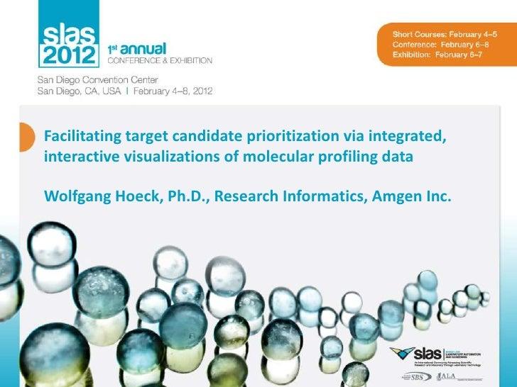 Facilitating target candidate prioritization via integrated,interactive visualizations of molecular profiling dataWolfgang...