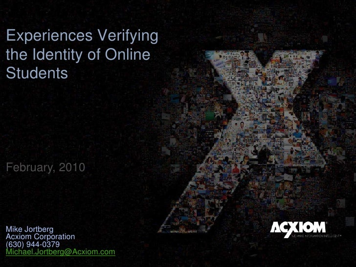 Academic Integrity and Identity In Online Learning