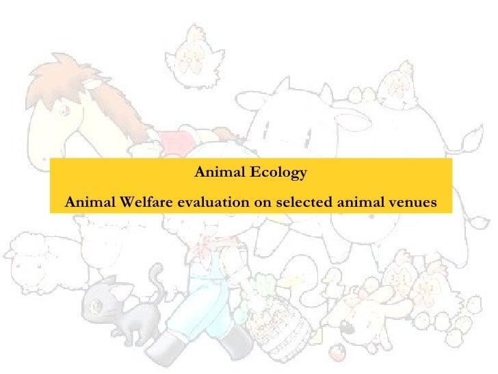 Animal Ecology Animal Welfare evaluation on selected animal venues