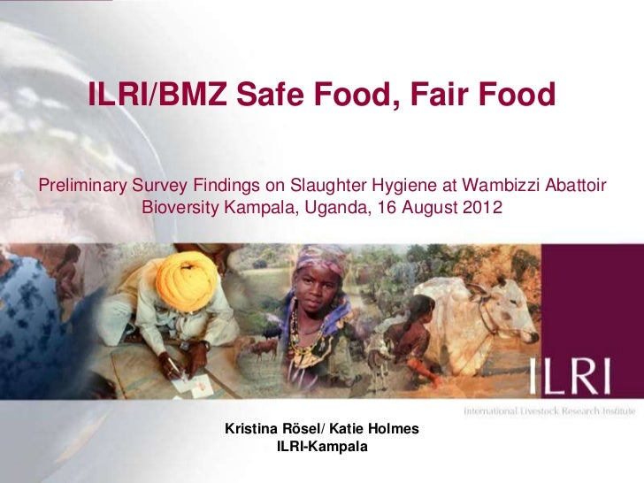 ILRI/BMZ Safe Food, Fair FoodPreliminary Survey Findings on Slaughter Hygiene at Wambizzi Abattoir             Bioversity ...