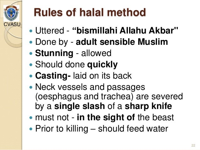 disadvantages of halal slaughter Current issues on halal food  unless ye are able to slaughter it (in  current issues in halal foodppt [compatibility mode.