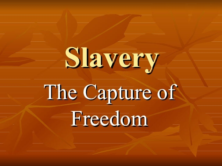 Slavery The Capture of Freedom