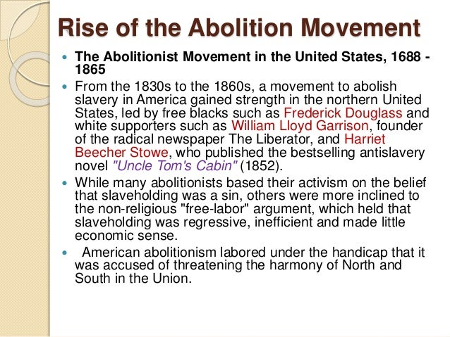 Abolitionist movement essay