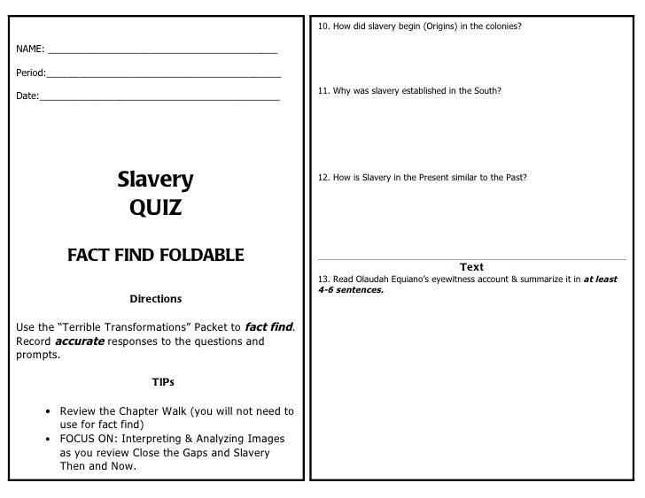 Slavery Quiz fact_find_