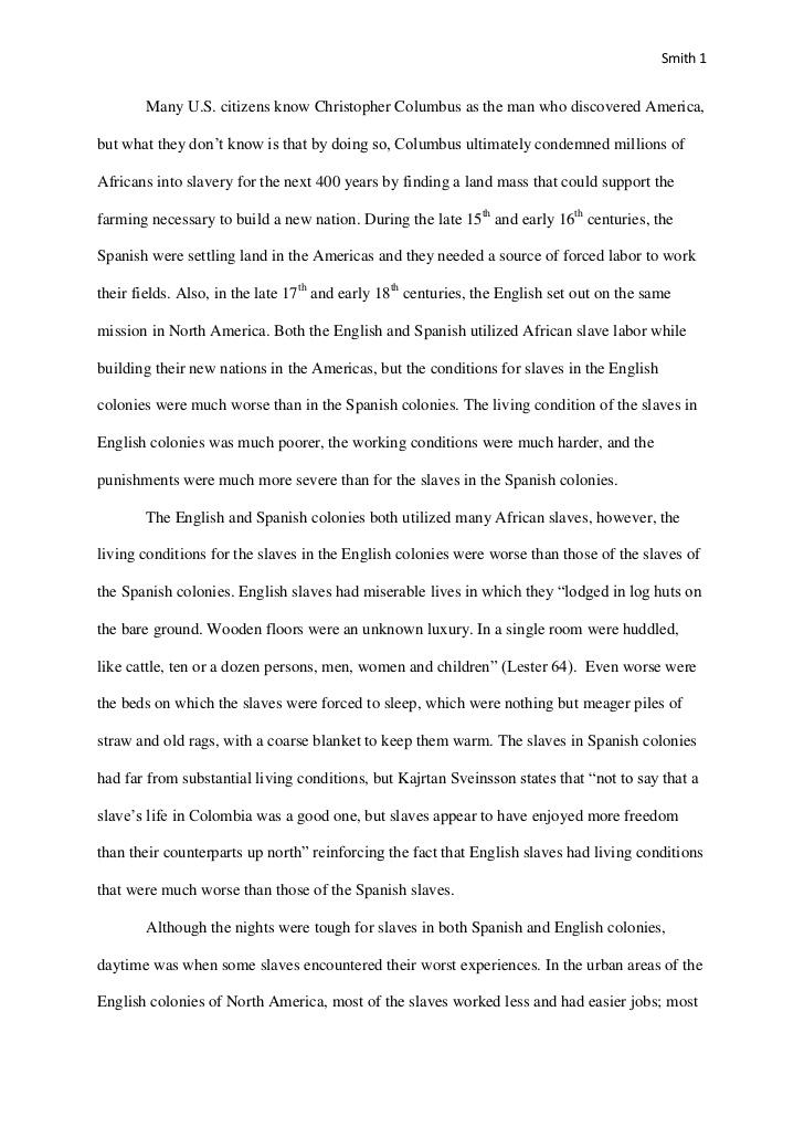 Slavery In Colonial America Essay