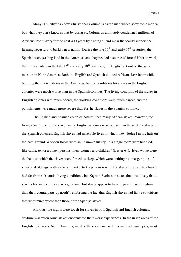 Name for a research paper (related to slavery)? Help?