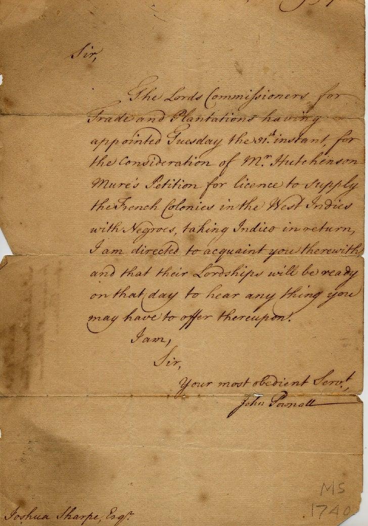 Slave Trade Bib Manuscript