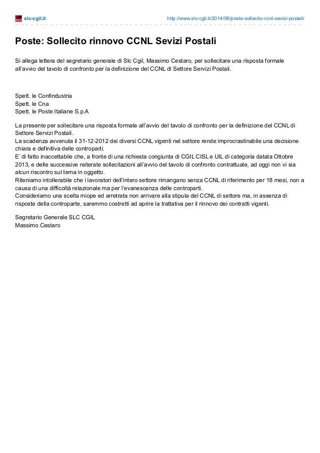 slc-cgil.it http://www.slc-cgil.it/2014/06/poste-sollecito-ccnl-sevizi-postali/ Poste: Sollecito rinnovo CCNL Sevizi Posta...