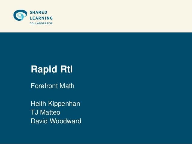 Rapid RtIForefront MathHeith KippenhanTJ MatteoDavid Woodward